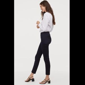 H & M Dark Navy Ankle Slacks